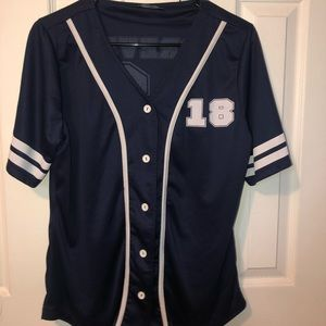 Tops - Navy Blue Forever 18 Jersey